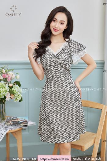 Váy Liền Ren Lưới Hoa Bèo Tay